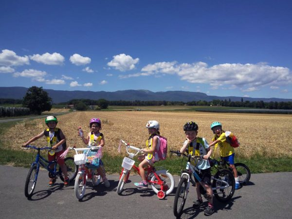Keeping fit on our bikes at Kids Camp
