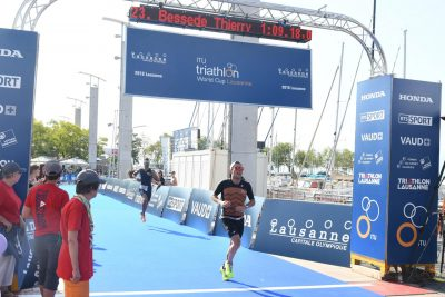 Lausanne Triathlon finish line