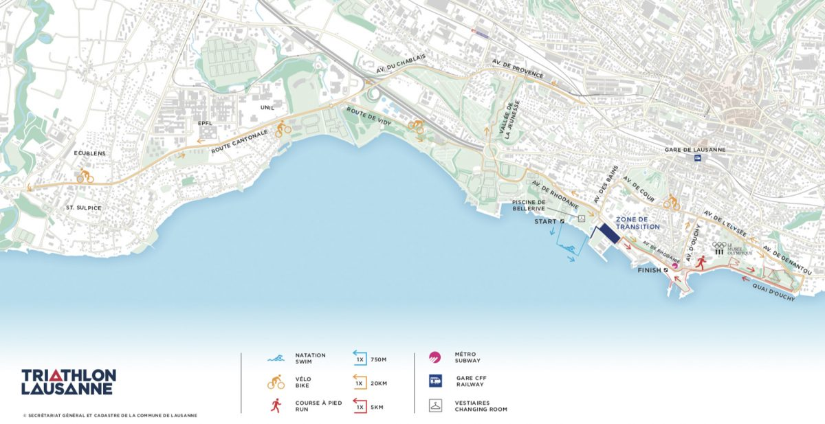 Lausanne Triathlon map