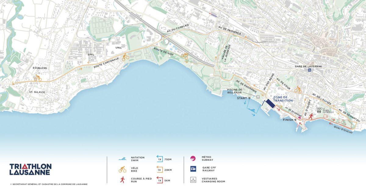 Lausanne Triathlon map
